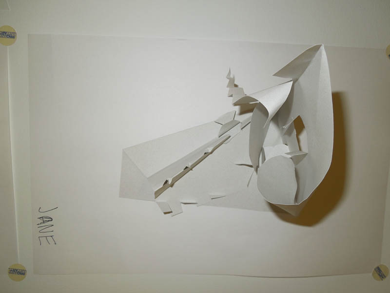 One piece of white paper from two to three dimension